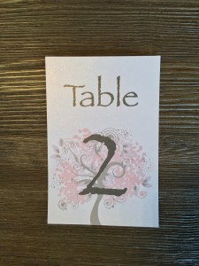 Table Number Weddings, Invitations, Stationary