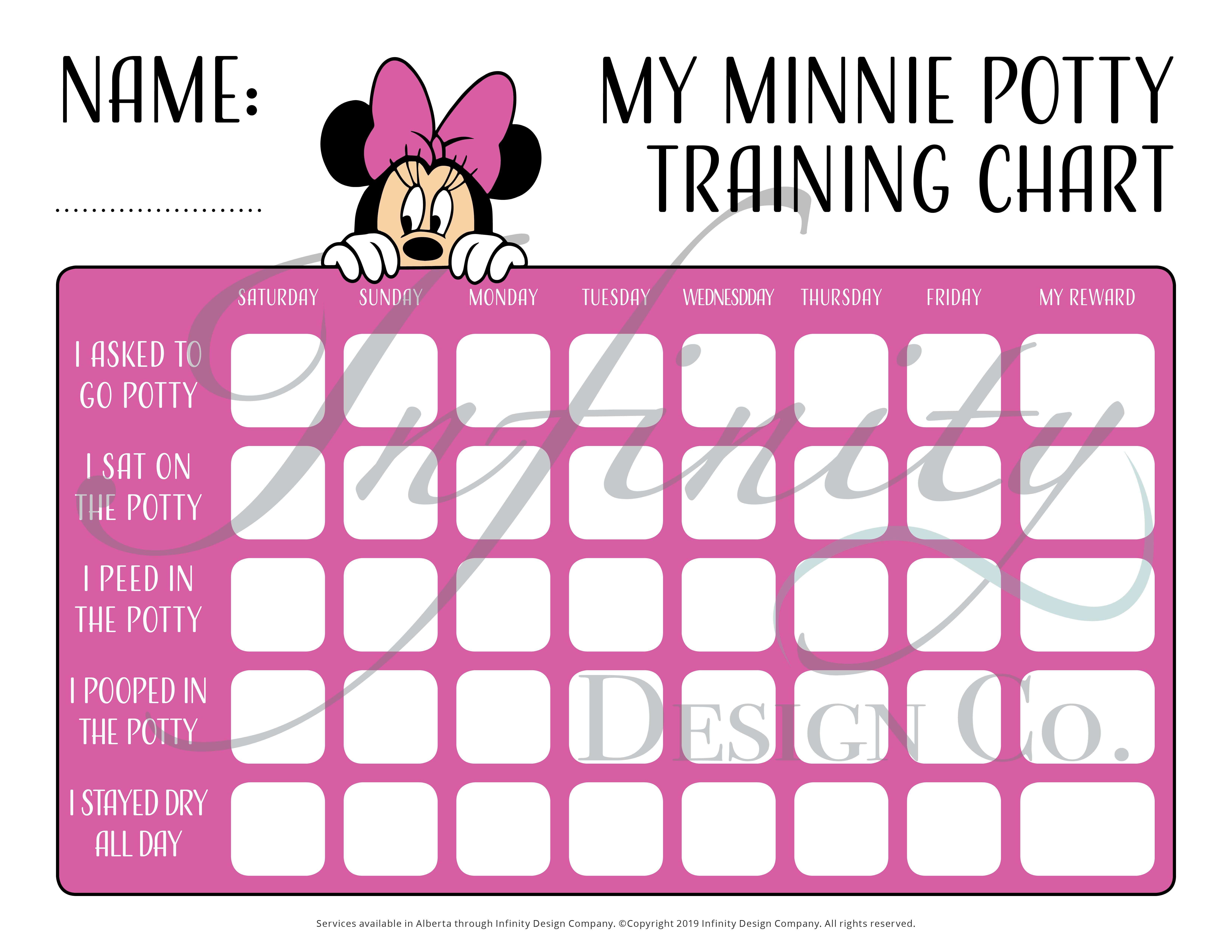 Digital Printable Potty Chart Diy Choose Your Child S Favorite Theme