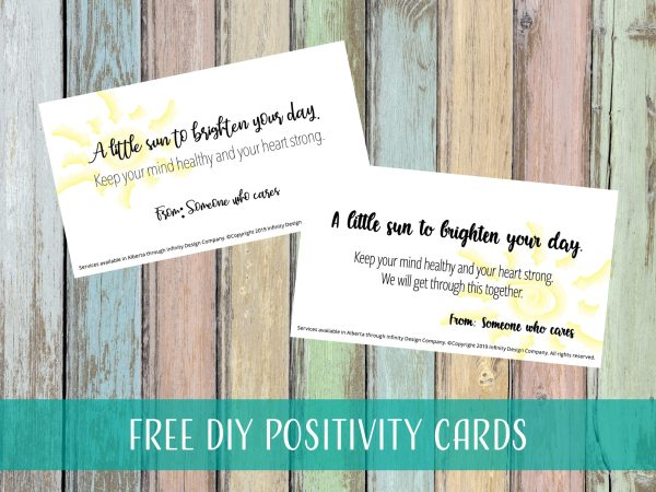 Free DIY Positivity Cards