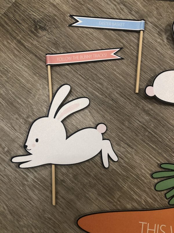 Easter Flag and Bunny
