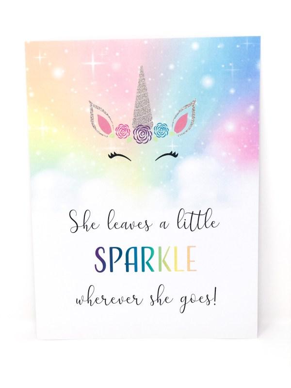 She Leaves A Little Sparkle Wherever She Goes Sign