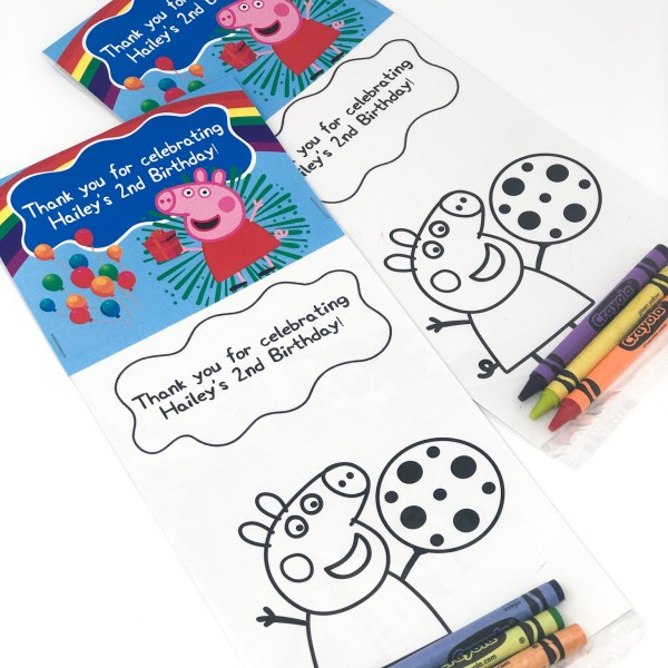 Peppa Pig Coloring Sheet Favor/Gift