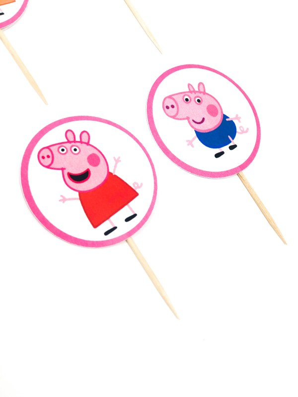 Peppa Pig Cupcake Toppers