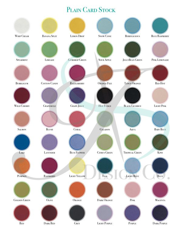 Plain Cardstock Swatches