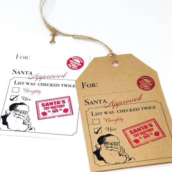Christmas Gift Tags Santa Approved