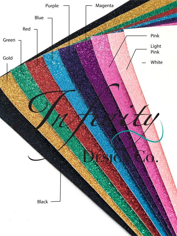 Faux Shimmer Glitter Leather Swatches