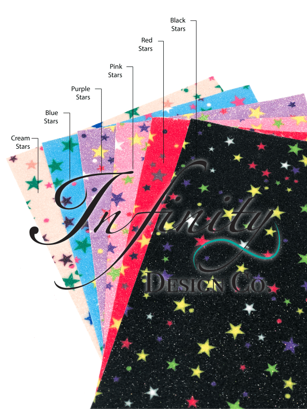 Glitter Stars Faux Swatches