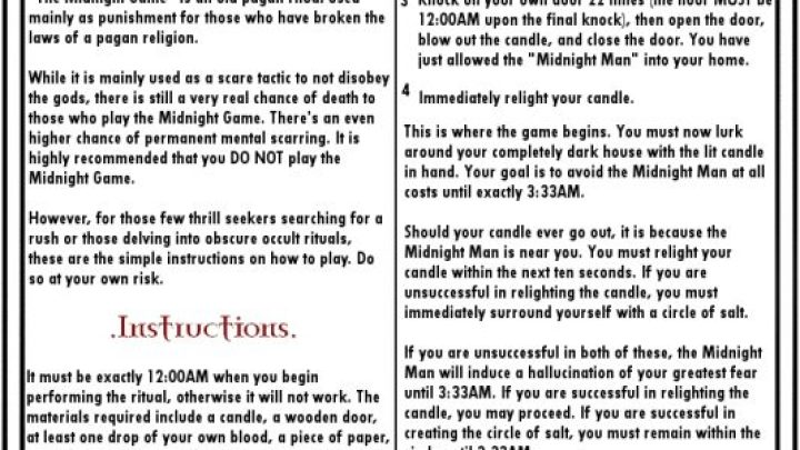 Creepiest Game ever – The Midnight Game