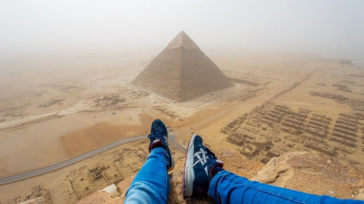 Illegally climbed the Pyramid of Giza (Egypt) and recorded it on Video