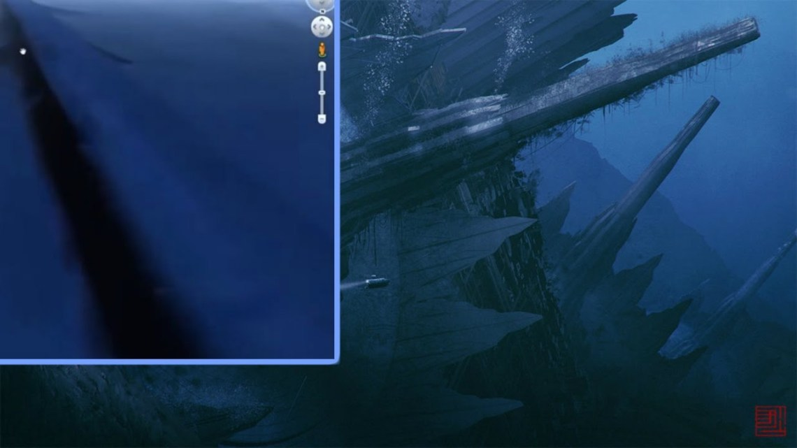 """A Gigantic """"Underwater Wall"""" Discovered in Google Earth that would cover the whole Planet"""