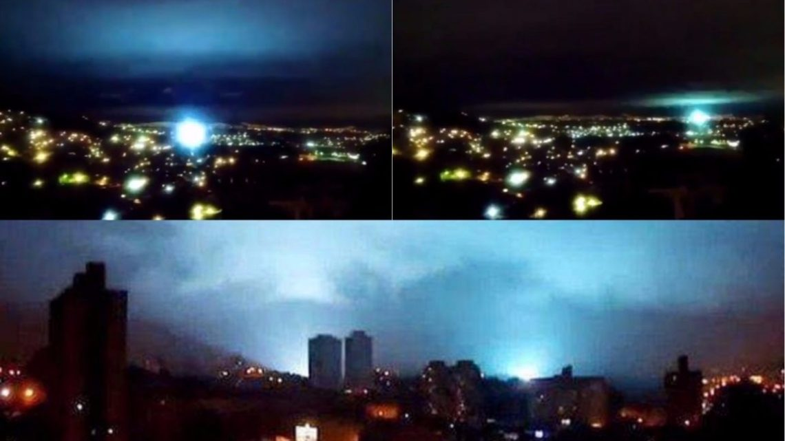 Strange lights in the sky after the earthquake of 8.2 in Mexico (Video)