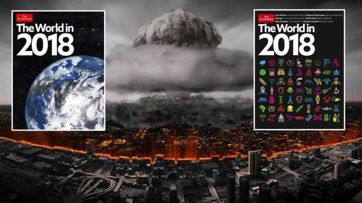 """The World in 2018 : We Reveal the Terror Hidden Secrets on the Cover of """"The Economist"""""""
