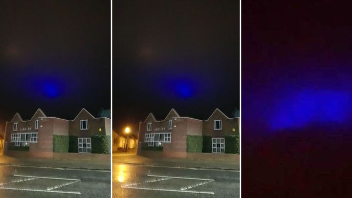 Mysterious blue lights appear in United Kingdom sky