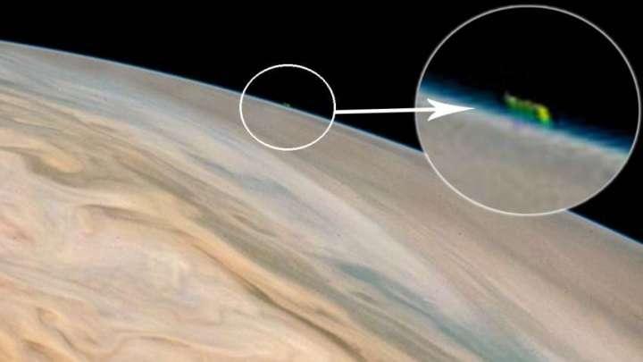 UFO on Jupiter : Images released by NASA shows a huge UFO on Jupiter