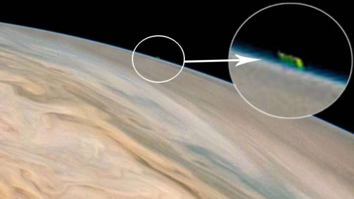 UFO on Jupiter : Images released by NASA shows a huge UFO on Jupiter