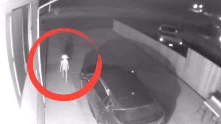 Security camera captures strange creature like an Elf