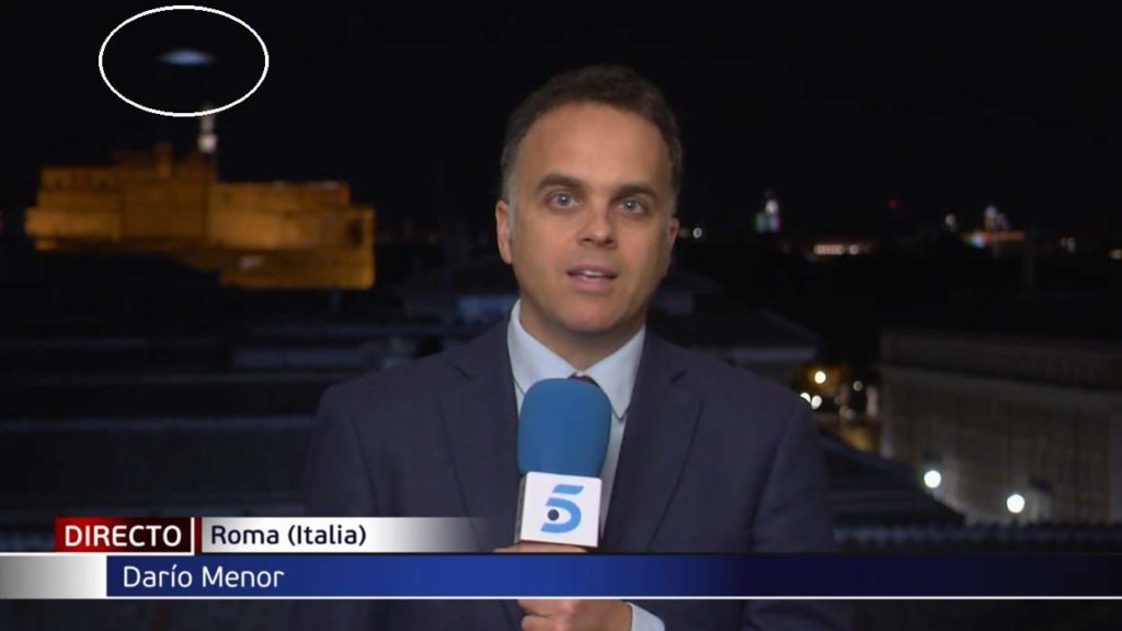 UFO Spotted On Live Television In Rome