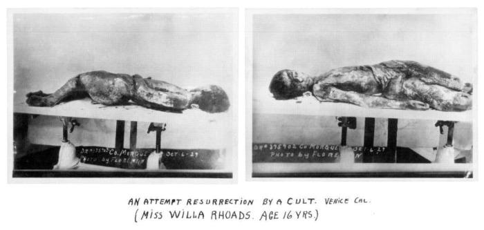 Attempted ressurection of Willa Rhoads The Blackburn Cult
