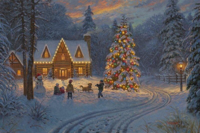 Smoky Mountain Christmas By Mark Keathley Infinity Fine Art