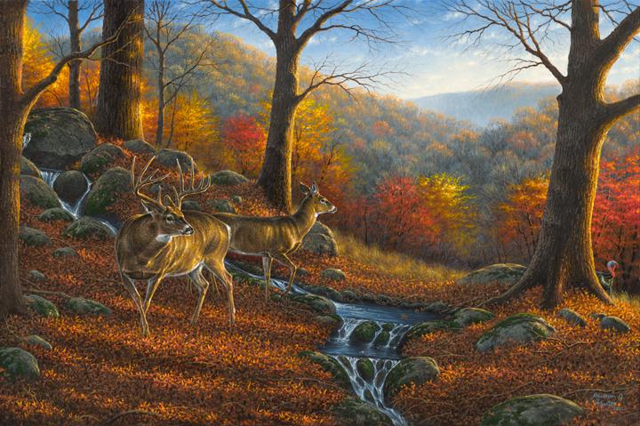 Fall Cabin The Woods Wallpaper Hunter Ridge By Abraham Hunter 187 Infinity Fine Art