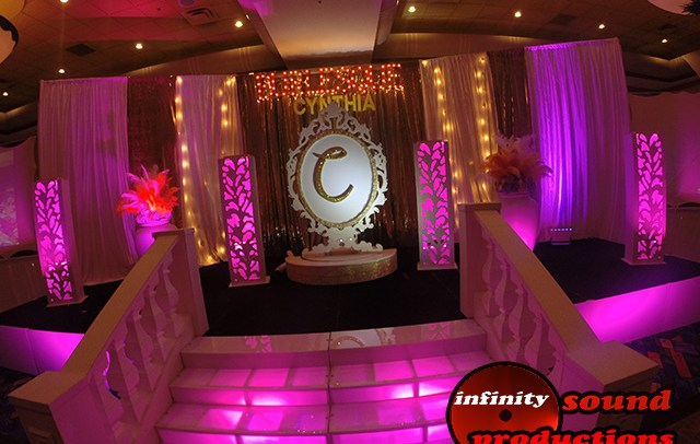 Asian Stage, Winter Wonderland, Modern Stage For Quinces, Paris Quince Stage, Miami quinces, Miami Quinces, Quince Stages, Quinceaneras, Miami Partys , Sweet 16's, 15 Teens, ispdj,