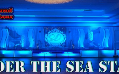 Nautical Under the Sea Quinceanera Stage