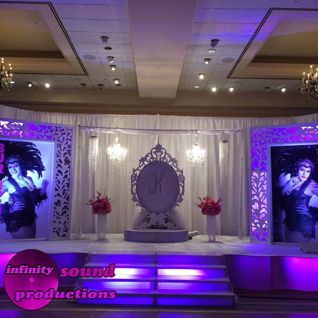 Burlesque theme quince 39 s infinity sound production for Arabic stage decoration