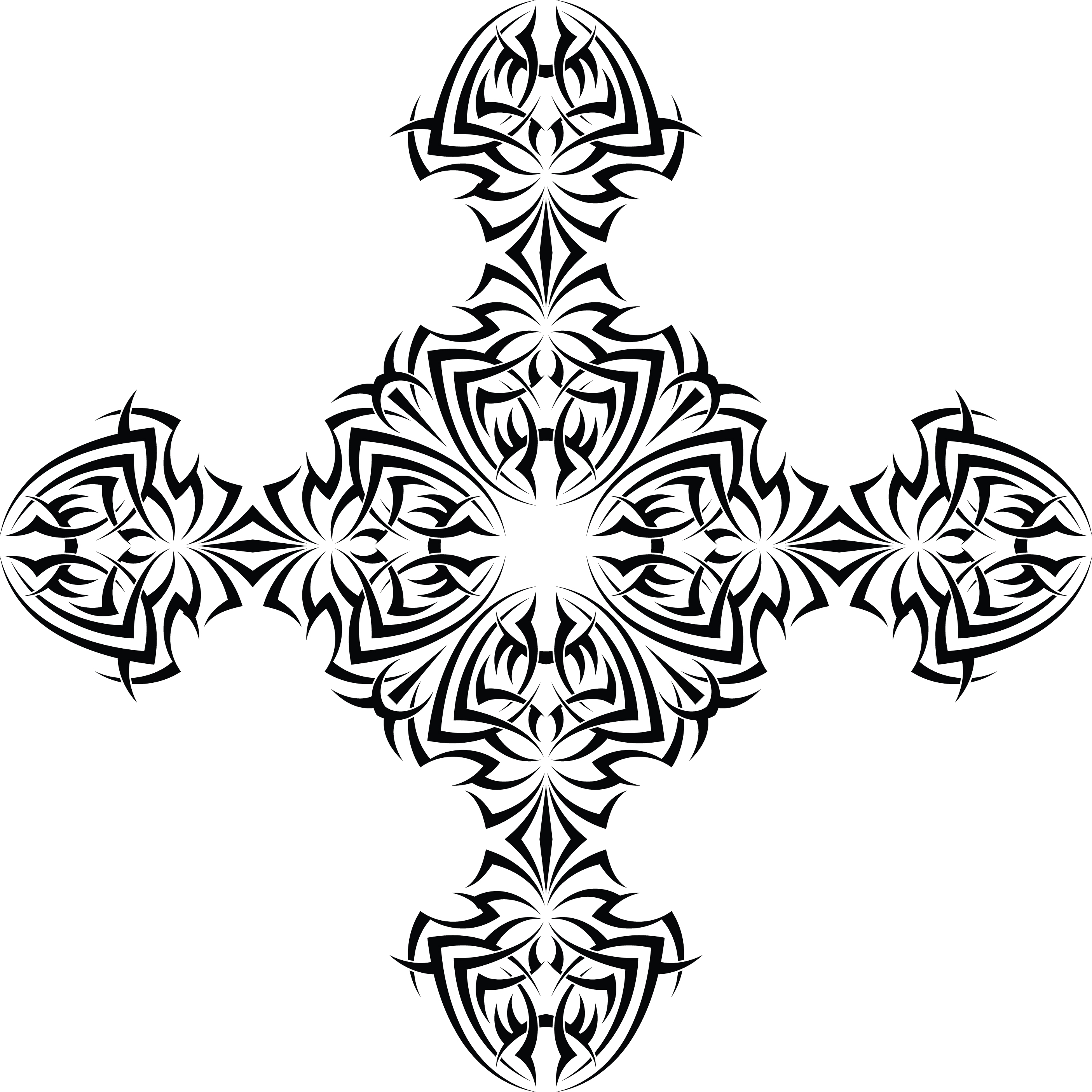 Cross tattoos for man and woman, Tribal and celtic cross