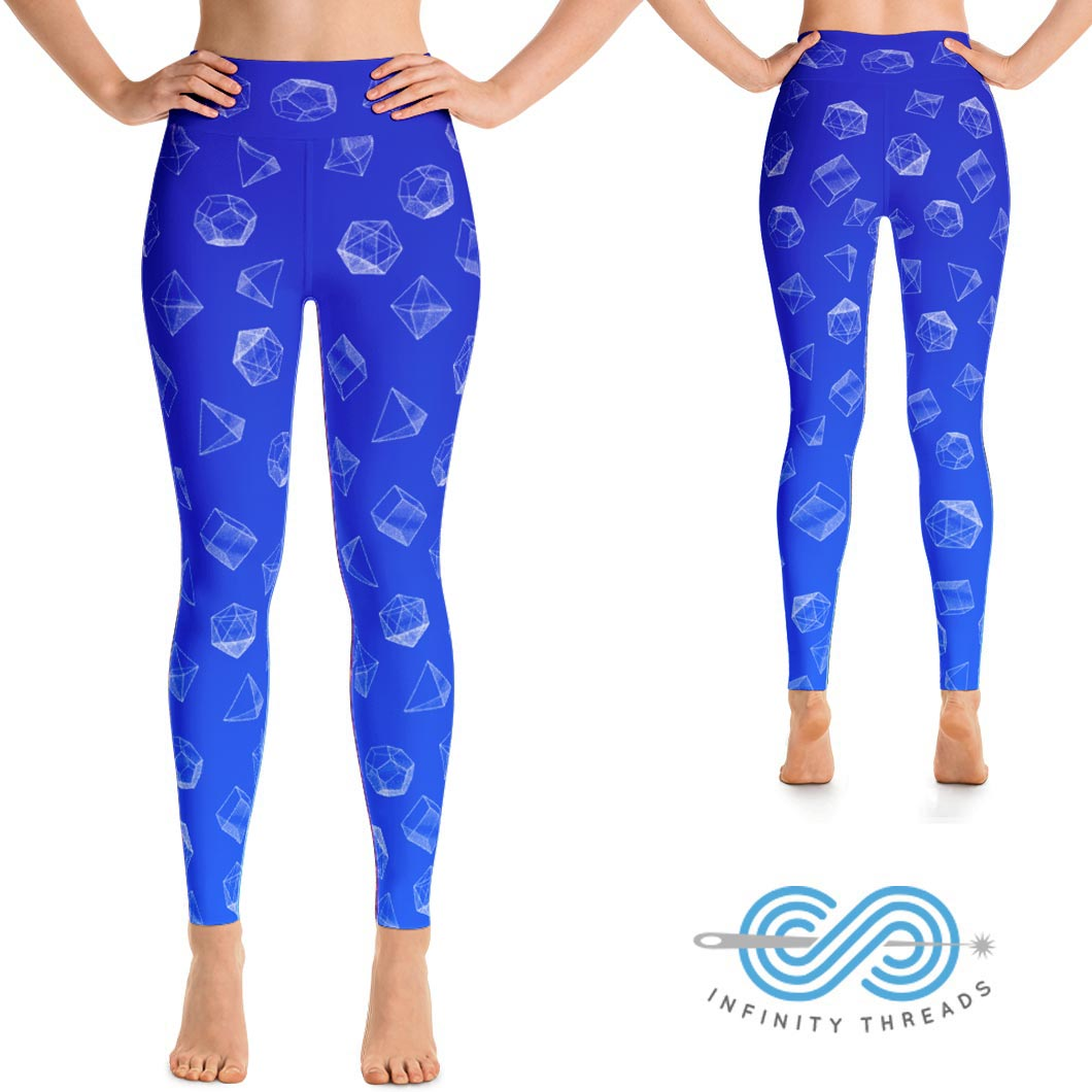 Yoga Leggings Platonic Solids Edition Blue Infinity Threads