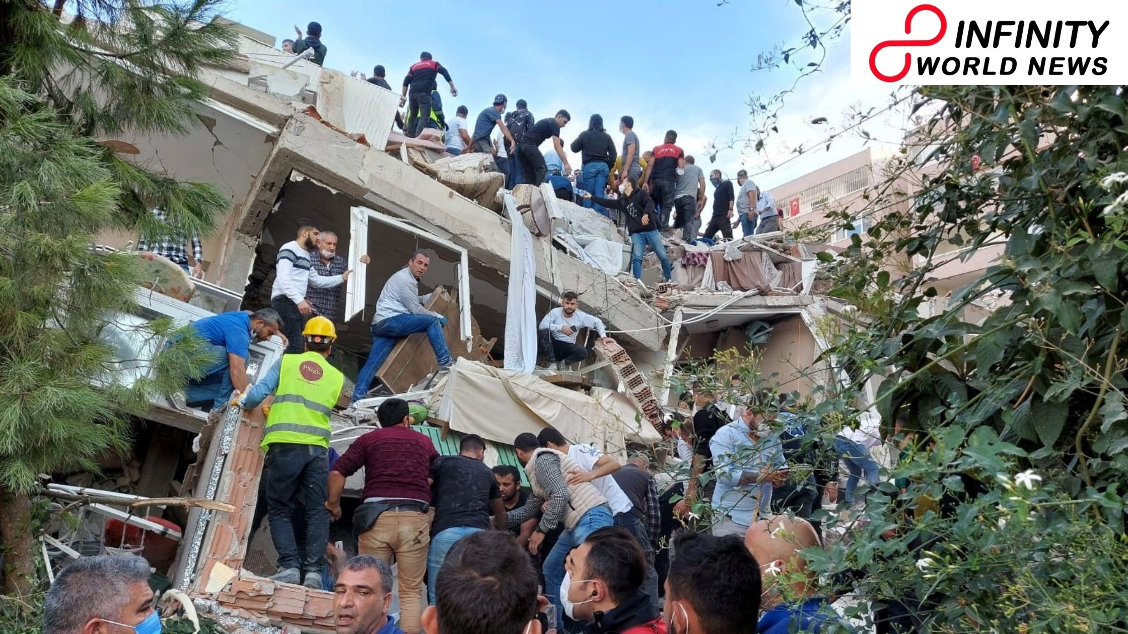 Turkey-Greece shudder_ Search for survivors under the rubble