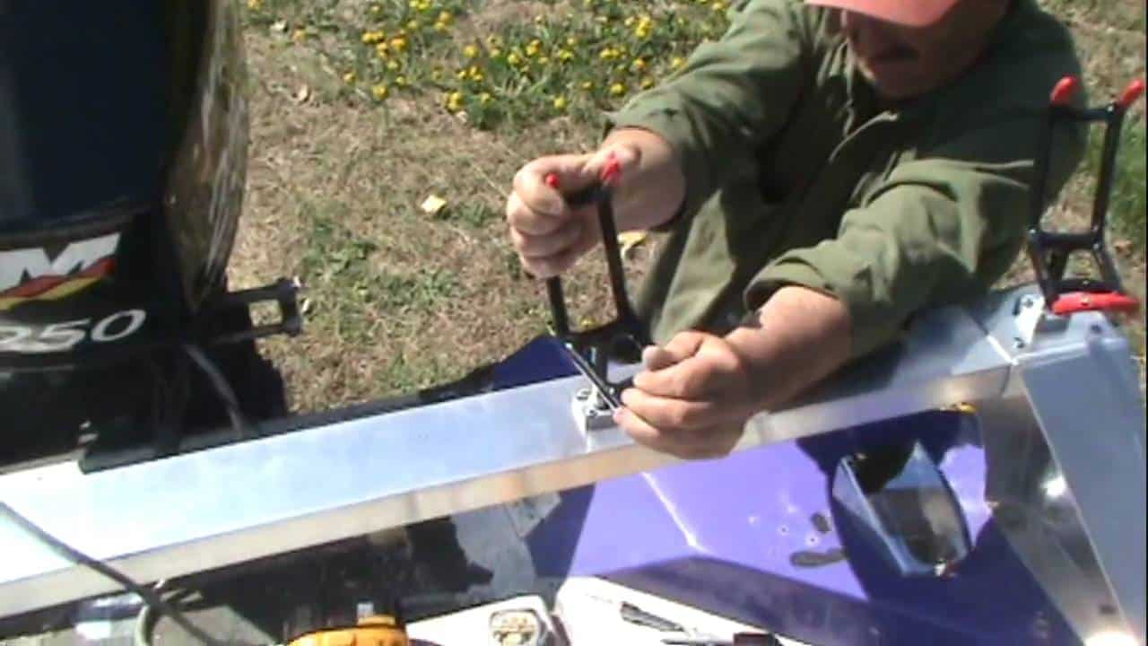 How To Build A Rod Rack For A Catfish Boat
