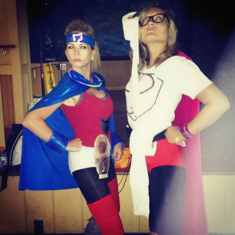 Gut Girl and Super Pooper. Blake and I didn't even know we were going to be co-counselors. We both planned IBD themed super heroes without telling each other.