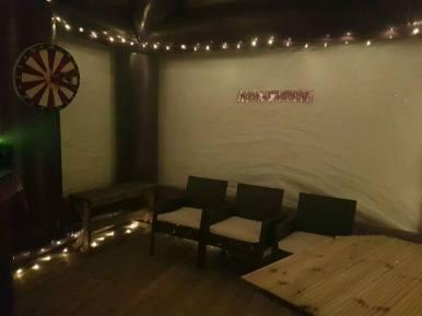 Interior of a Shack inflatable pub_