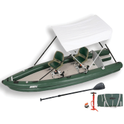 FishSkiff 16 2 Person Swivel Seat with Canopy