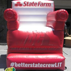 Inflatable Chairs For Adults Old Fashioned High Chair And Couch From Design Group State Farm