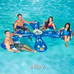 inflatable water chairs for adults outdoor chair cushion adult floating cocktail bar raft tube swimming pool lake