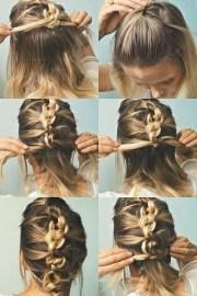 of medium long hair updos