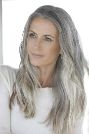 of long hairstyles grey