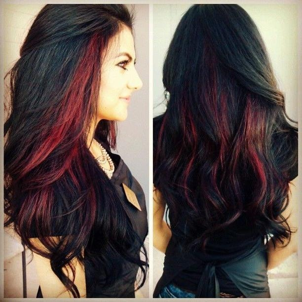Black hair red highlights the best black hair 2017 best 25 red highlights ideas on hair color pmusecretfo Choice Image