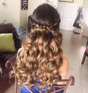 of long hair quinceanera