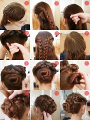 2019 latest updos long thick