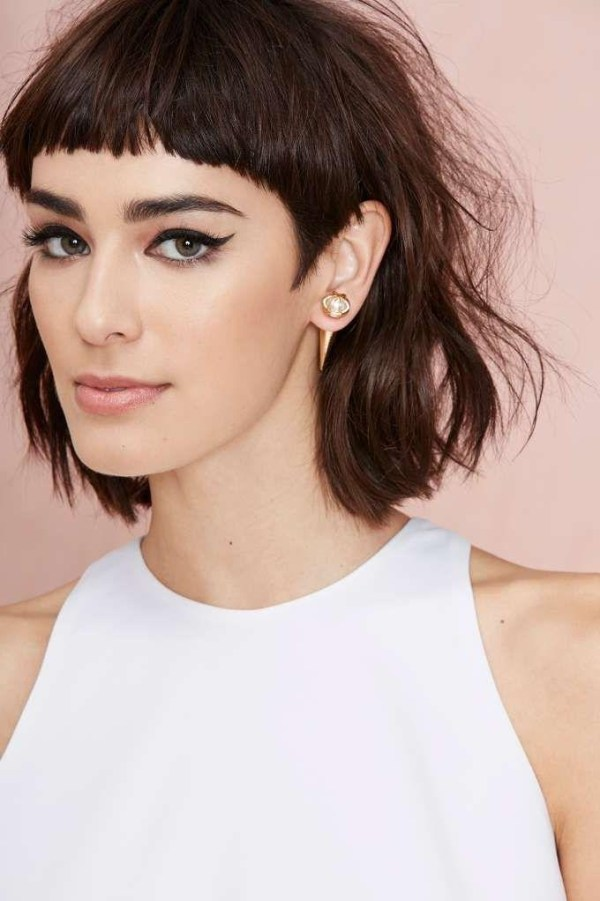 30 Short Hairstyles With Long Bangs Pinterest Hairstyles Ideas
