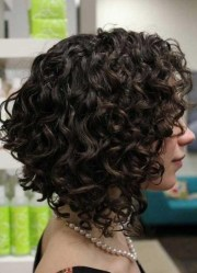 ideas of curly inverted bob