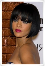black hairstyles with bangs 2017