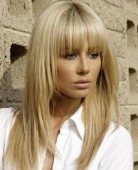 15 Best of Long Hairstyles With Full Fringe
