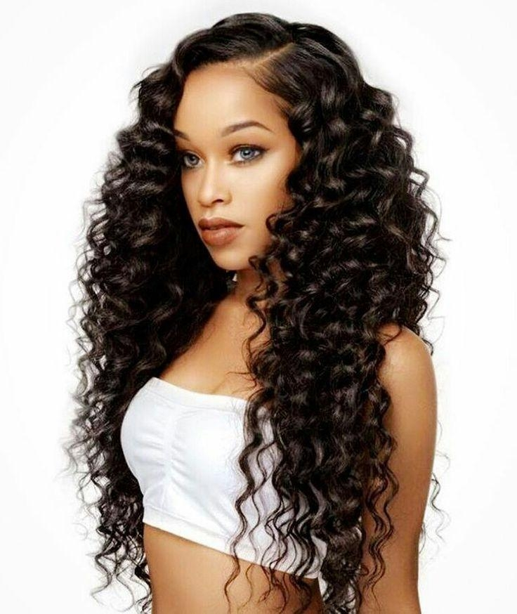 15 Collection of Curly Long Hairstyles For Black Women