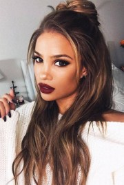 2018 latest dark brown long hairstyles