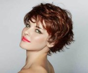 of tousled short hairstyles