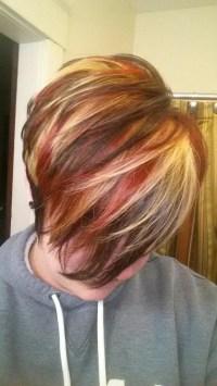 Short Haircuts Red Highlights - Haircuts Models Ideas