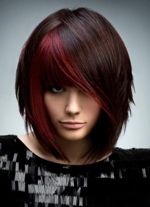 30 2016 Bob Hairstyles With Red Highlights Hairstyles Ideas